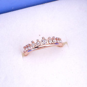 Good jewelry Korean style fashion Flash diamond Crown ring diamond ring girl pinky ring