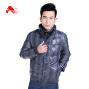 Kang step short bi-male sport padded collar warm coat in winter sports and leisure clothing old thickened