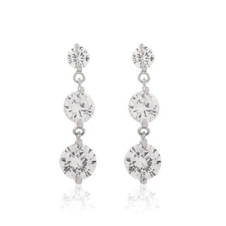 Love Korea fashion zircon earrings new color female temperament hypoallergenic earrings Super Flash Korean Pak match accessories