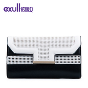 Exull new q2015 spring hollow colour matching shoulder clutch bag purse handbag 15324162