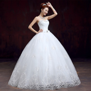 New 2015 spring summer wedding dress with purple Qi Korean yards thin diamond bridal fashion tailor-