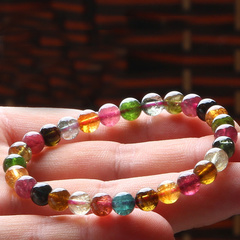 Natural Brazil old ice tourmaline bracelet ladies color rich and tourmaline bracelets jewelry week master benefits
