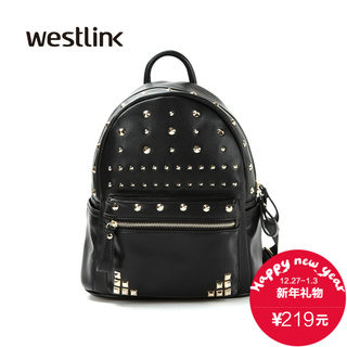 Westlink/West fall 2015 the new Korean version of the individuality tidal rivet PU shoulder bag women bag SZ