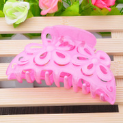 Ya na large claw clip hair with Candy-colored flowers ponytail jewelry hair accessory bath clips
