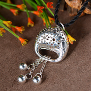 Thai Thai silver jewelry vintage Court drops female hollow Bell pendant 925 sterling silver women in Europe and America