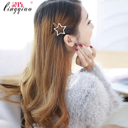 Smart Clip the side clip Pearl headdress issuing red frog buttons bangs clip hair butterflies with blonde hair clip