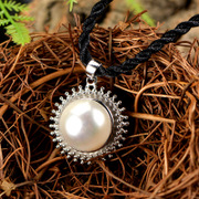 Thai natural freshwater pearl pendant in 925 Silver ladies pendant elegant European fashion accessories