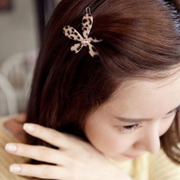 Cool na Korean hair accessories Korean wild long hairpin Leopard clip Clip head ornaments, 6357