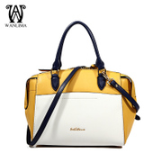 Hit Wanlima/million 2015 new handbags for fall/winter color leather handbag shopping malls with slung portable