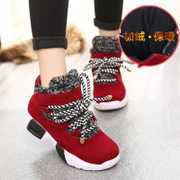 2015, plus the end of autumn and the new Korean version of thick cotton Sneakers Shoes leisure shoes warm magic student shoes wave