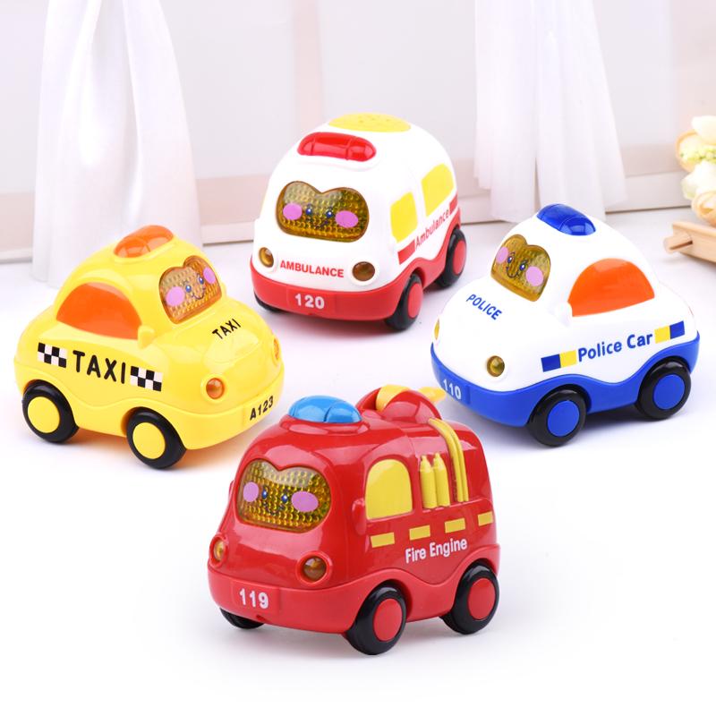 男孩玩具惯性小玩具车卡通小汽车儿童益智玩具婴儿声光3-6-9个月