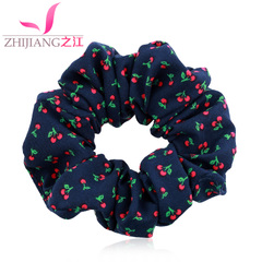 River cherry fruit rings Korea wire cloth hair band first flower headdress simple ponytail hair accessories