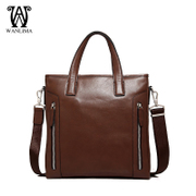 Wan Lima vertical leather shoulder man bag handbag leisure header layer of leather Crossbody trend