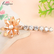 Counter simple hairpin Word Crystal hair accessories clips genuine plum clip studded fringe card new
