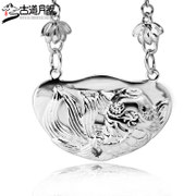 Trail pendant 925 silver pendants the Moon handmade ethnic silver old silversmith baby lock Fu fish 160