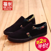 Becky autumn new Le Fu shoes, low shoes, Korean tidal national wind add cashmere warm men's shoes casual shoes package mail