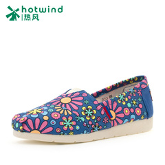 Hot new spring/summer shoes ladies plain lazy flower shoes canvas shoes women's shoes at the end of the tide 731H15135