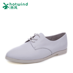 Hot spring of 2016 wind wind Department of women's College in England with female flat casual shoes leather shoes H02W6107