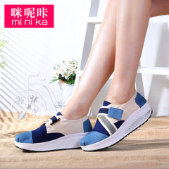 Microphone clicking lazy fall 2015 set foot canvas women's casual flat shoes women Korean wave