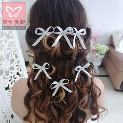 Beauty is just too Korean bow rhinestone wedding tiara bridal hairpin wedding dress accessories C0099