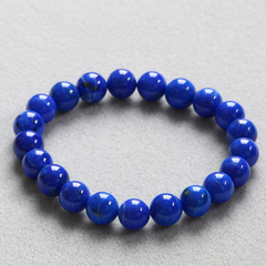 Crystal natural treasure Afghanistan female male blue lapis lazuli bracelet Blue Demon and old customer benefits