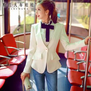 2015 new ladies small doll autumn ladies ' OL suit pink long sleeve slim small suit women