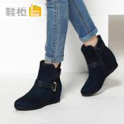 Shoebox shoe 2015 winter new European and American minimalist women's boots with platform boots 1115505228