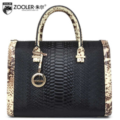 Jules Lady Boston pillow 2015 new cowhide snake leisure shoulder bags diagonal with the bag