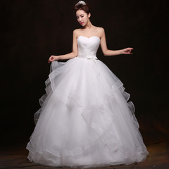 Purple Fairy bride and wedding dress spring/summer new 2015 Korean layout white slim to embarrassingly simple atmospheric