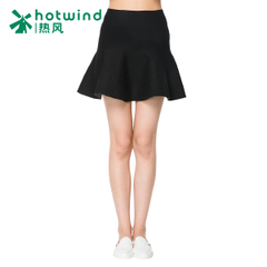 Hot Korean version in the spring and autumn new minimalist high waisted woolen skirt skirt skirt 14H5704