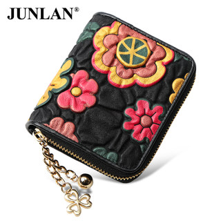 Short bi-LAN-June 2016 new style leather ladies wallet purse zip wallet