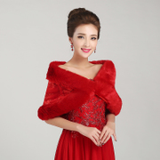 Shawls bridal shawls Bridal Accessories hair products hair red shawl shawls winter wedding dress PJ007
