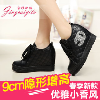 2015 stealth increases in summer high shoes 10cm sports shoes shoes the Korean version of tide with thick-soled platform shoes