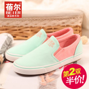 Email spring and autumn new style canvas shoes shoes shoes shoes Korean tidal ventilation lazy people low flat-bottom shoes for mail