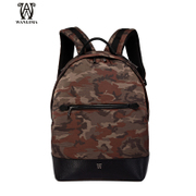 Wanlima/million 2015 new men's shoulder bag casual male bag Korean version of camouflage backpack bag surge