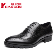 Italian con men's shoes fall 2015 new leather business shoes dress shoes yinglunbuluoke carved wave