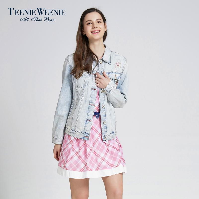 Teenie Weenie小熊春夏专柜正品女装水洗牛仔夹克外套TTJE52301A