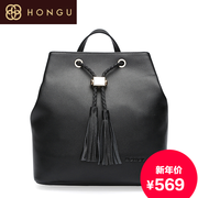 Honggu Hong Gu counters authentic 2015 new style fashion leisure the first layer of leather ladies backpacks 7871