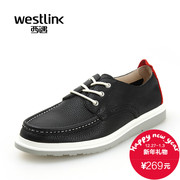 West fall 2015 new Korean leisure head of soft, comfortable leather strap color sneakers men's shoes