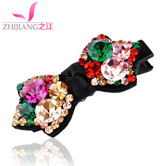 Zhijiang hair bangs clip girl Korea rhinestone Butterfly first clip the simple card handmade hair accessories