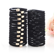 Good hair accessories hair band hair band hair ring rope leather durable Korean jewelry line