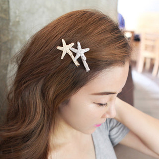Know Richie shiny star hair clips hair accessories Korean alloys temperament Starfish clip Duckbill clip hairpin jewelry