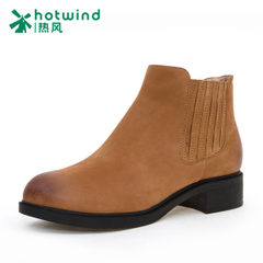 Hot new simplicity in winter with boots leather short tube of England women boots H82W5443