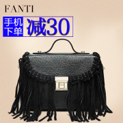 Title leather tassels handbag handbags 2015 new autumn and winter fashion single shoulder Messenger bag portable mini party package