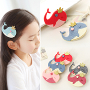Know Richie children''''s hair accessories girls new Crown whale Barrette cartoon side issuing baby jewelry