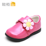 Shoebox shoe spring new sweet flower child shoes specular PU girls casual shoes 1115434005
