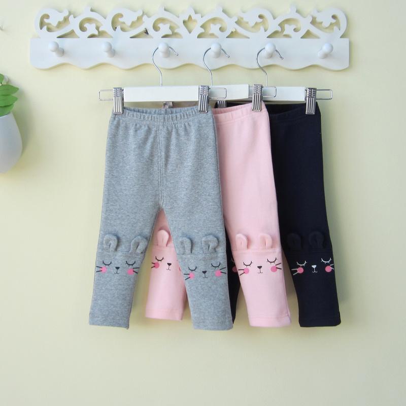 童装女宝宝打底裤子春秋0一1-3岁可开档2薄款公主潮婴儿秋装外穿4