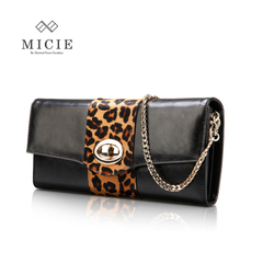 Micie2015 spring handbag European fashion Leopard horsehair clutch bag banquet temperament ladies hand bag