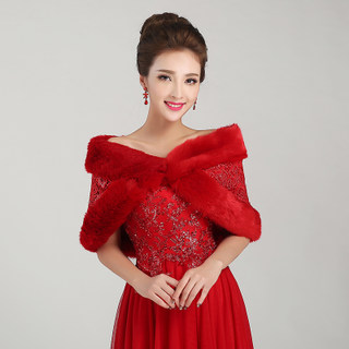 Honey marriage wedding dress shawl thickened woolly shawls all roads lead to shawl red shawl PJ008