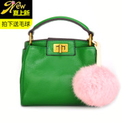 Ou Xuan classic new suede leather hand-shoulder diagonal leather women bag tide mini kitten Pack